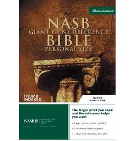 NASB Giant Print Reference Bible/Personal Size-Black Bonded Leather Indexed