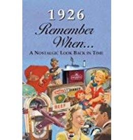 Seek Publishing Seek Publishing 1926 Remember When KardLet (RW1926)