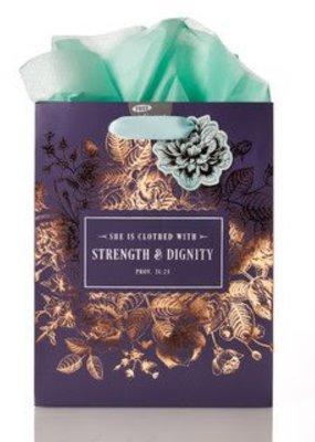 Strength and Dignity - Proverbs 31-25 Medium Gift Bag