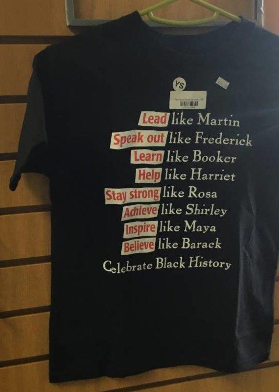 Tee Shirt Black History - YS