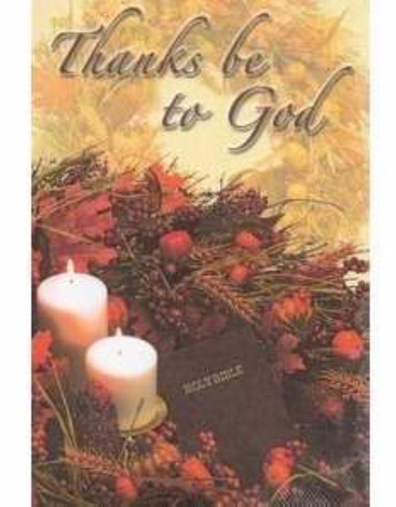 Thanks Be To God Thanksgiving Offering Envelopes