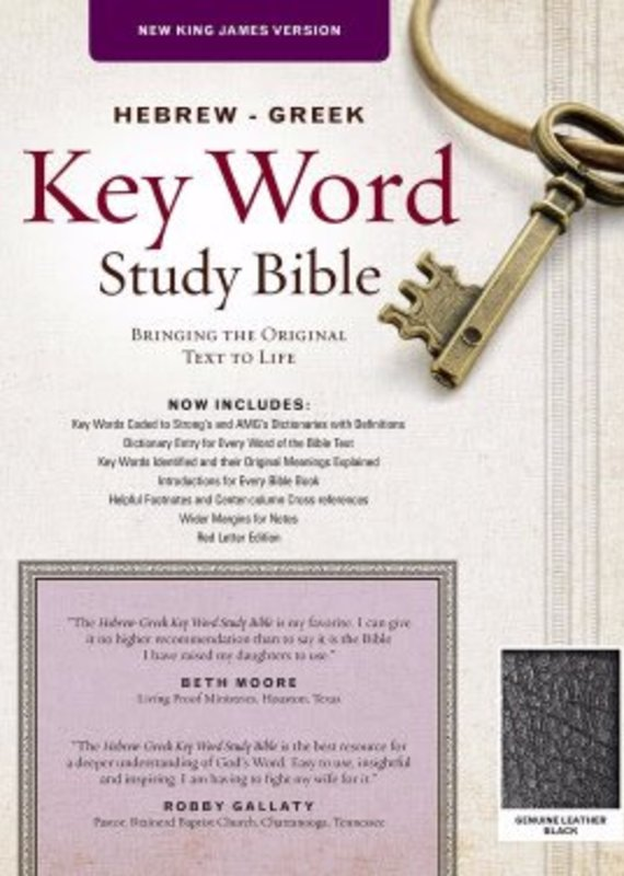 AMG Publishers NKJV Hebrew-Greek Key Word Study-Black Genuine Leather
