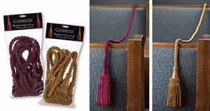 Weighted Pew Ropes-8'-Gold