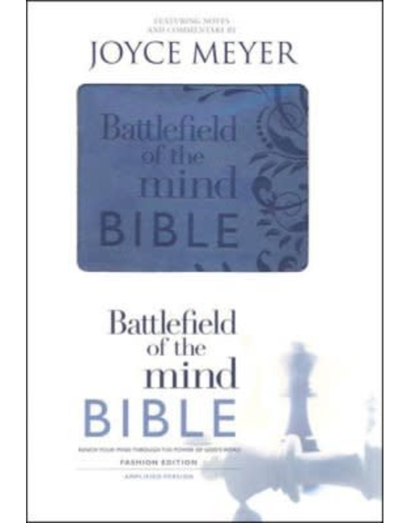 Faith Words Amplified Battlefield of the MInd Bible Blue Joyce Meyer