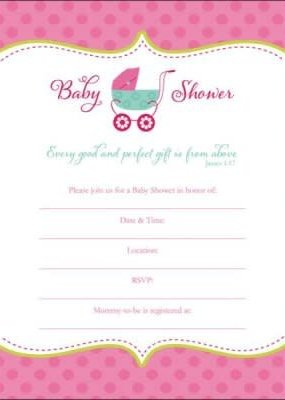 Baby Shower Invitation Baby Girl