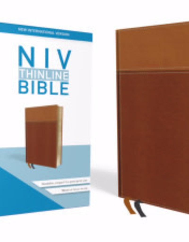 Zondervan NIV Thinline Bible (Comfort Print)-Tan Leathersoft