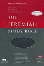 Worthy Publishing NKJV Jeremiah Study Bible/Large Print-Black Leatherluxe