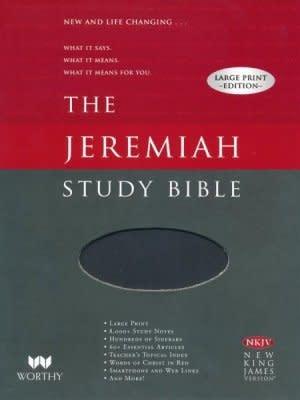 NKJV Jeremiah Study Bible/Large Print-Black Leatherluxe