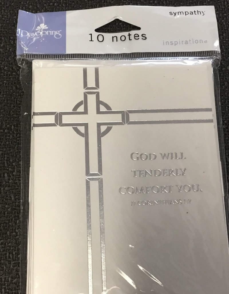God will tenderly comfort you notecards