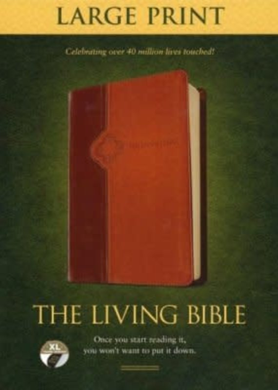 Tyndale The Living Bible lg print red ltr Brown/Tan index