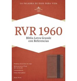 B & H Publishing RVR 1960 Biblia Letra Grande Con Referencias Copper/Brown Leather Touch