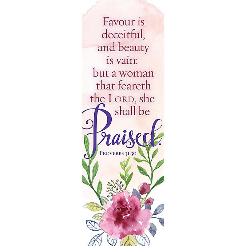 A Woman Who Fears the Lord - Bookmark (Pkg 25) General Worship