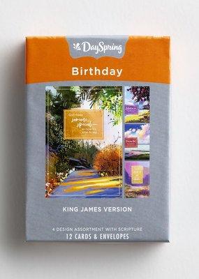 Birthday - Colorful Landscapes - 12 Boxed Cards, KJV