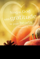 Bulletin-Gratitude (Colossians 3:16) (Thanksgiving) (Pack Of 50)