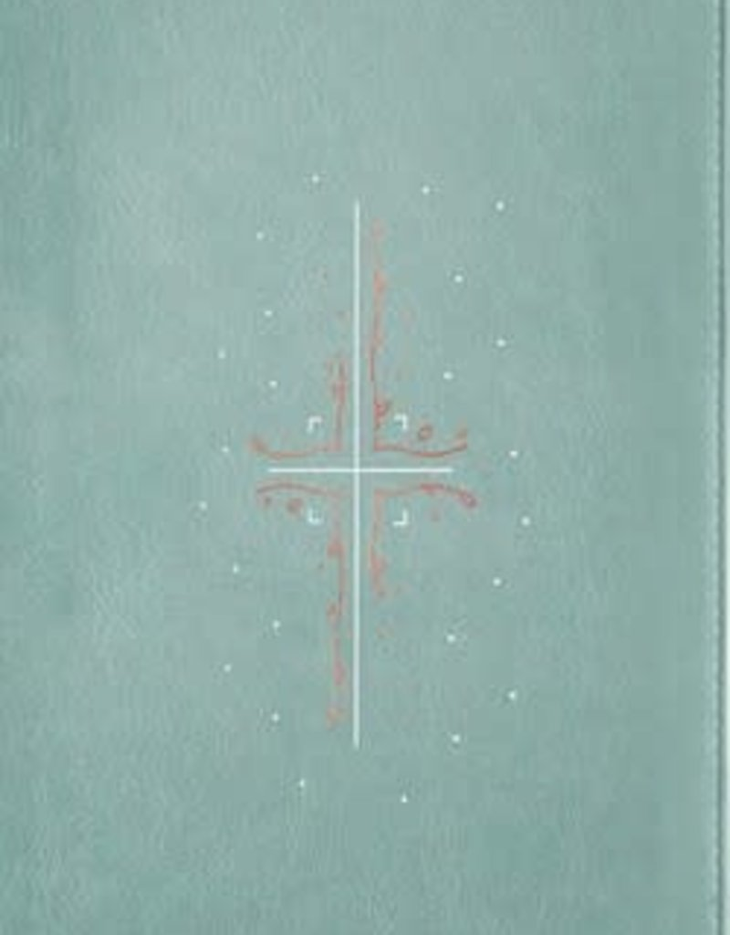 Filament Bible NLT LTHRL Teal, Indexed