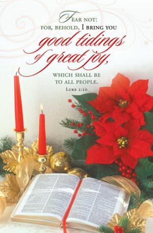 Bulletin-Good Tiding Of Great Joy (Luke 2:10), KJV (Pack Of 100)