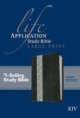 KJV Life Application Study Bible 2nd Edition, Large Print Black/Vintage Ivory Floral