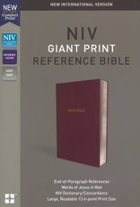 Zondervan NIV Giant Print Reference Bible (Comfort Print)-Burgundy Leather-Look