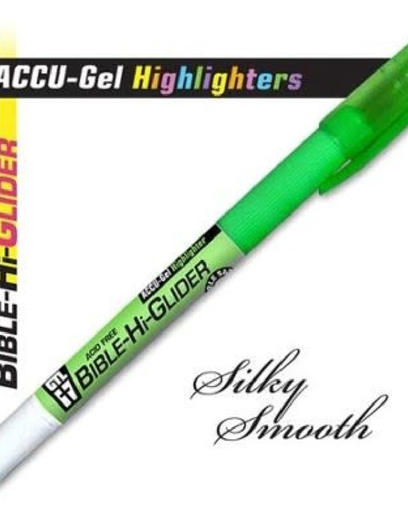 GTL Highlighter - Accu-Gel Bible Hi-Glider-Green