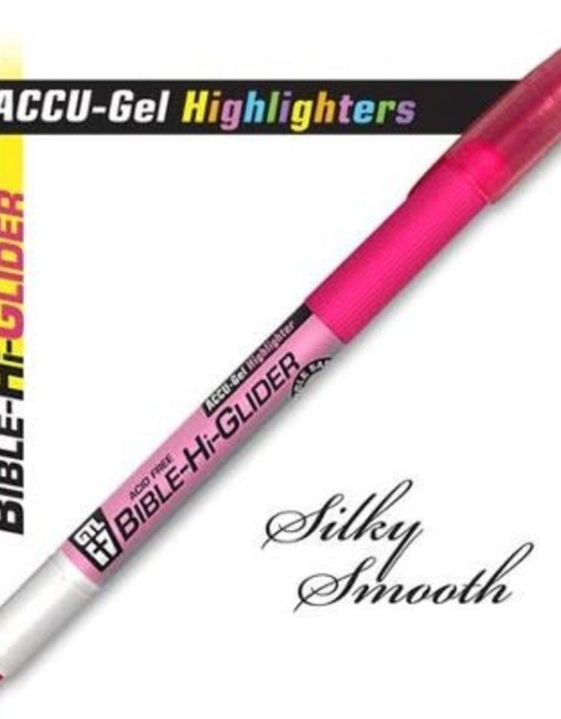 GTL Highlighter - Accu-Gel Bible Hi-Glider-Pink