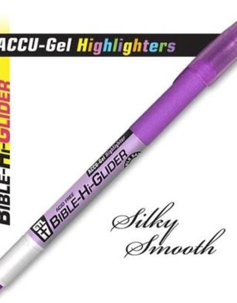 GTL Highlighter - ACCU-Gel Bible Hi-Glider-Violet