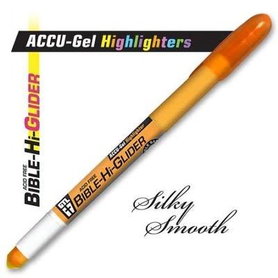 Highlighter-ACCU-Gel Bible Hi-Glider-Orange