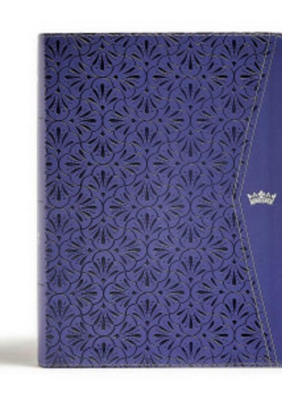 CSB Tony Evans Study Bible-Purple LeatherTouch Indexed (Nov)