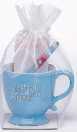 Gift Set-Be Still And Know-Mug w/Pen & Notepad