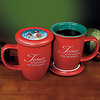 Mug-Grace Outpoured-Jesus Is The Reason- Red Coaster-Lid