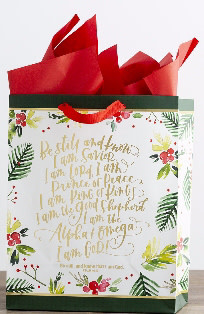 Gift Bag-Specialty-Be Still-Psalm 46:10-Large