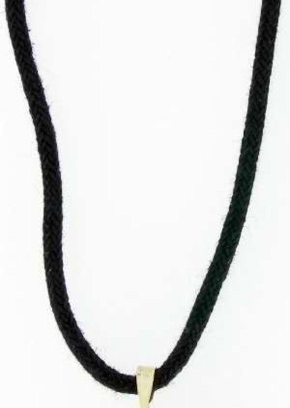 "Solid Rock Jewelry Pendant-Gold Large Hematine Cross-31"" Adjustable Black Cord"