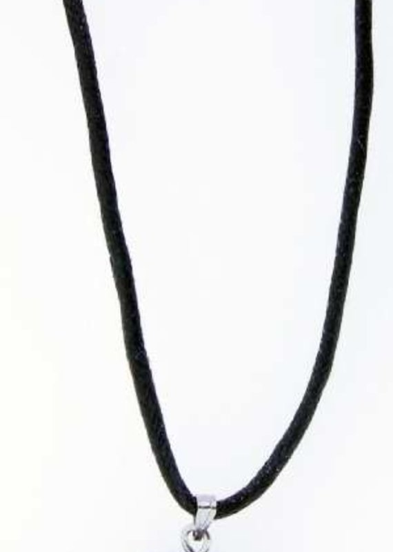 "Solid Rock Jewelry Pendant-Silver Jumbo Hematine Malta Cross-31"" Adjustable Cord"