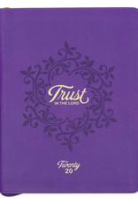 2020 Trust in The Lord Zippered Faux Leather Daily Planner in Purple