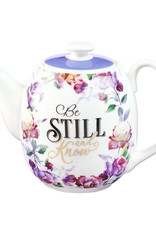 Be Still and Know Teapot in Purple - Psalm 46:10