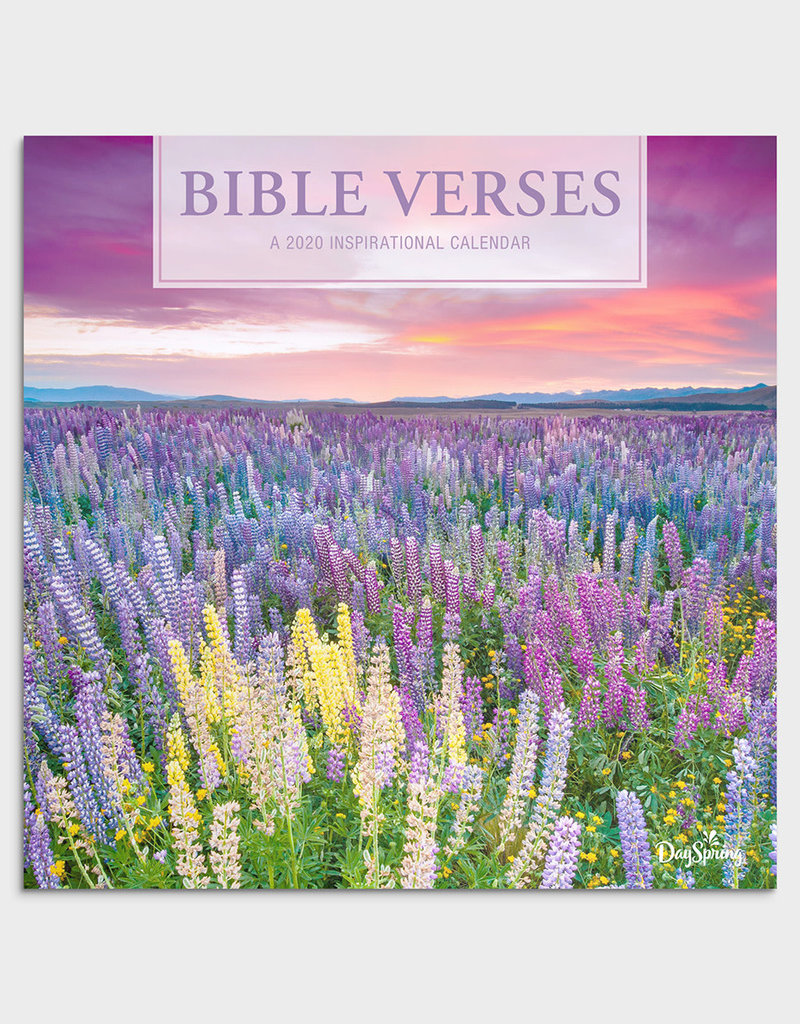 Bible Verses Flowers - 2020 Wall Calendar