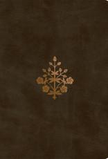 ESV Single Column Journaling Bible/Large Print-Olive Branch Design TruTone