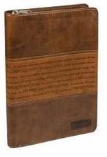 Journal-Courageous-Brown/Tan Duotone-Zipper