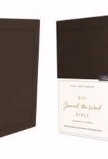 KJV Journal The Word Bible (Comfort Print)-Brown Bonded Leather