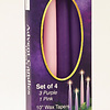 "Advent Candle Set-3 Purple/1 Pink (10"")"