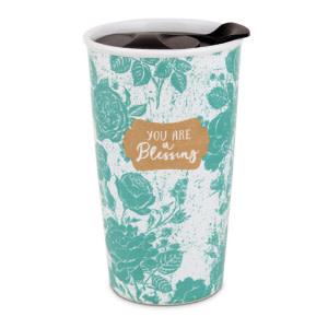 Tumbler Mug-Pretty Prints-You Are A Blessing (#15063)