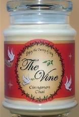 The Vine Candles Candle-Jar-Cinnamon Chai (Soy)-1 Cor 13:4, 7 (12 Oz)