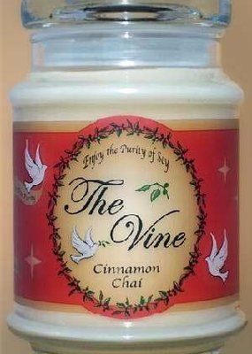 The Vine Candles Candle-Jar-Cinnamon Chai (Soy)-1 Cor 13:4, 7 (12 Oz)