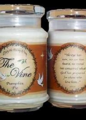 The Vine Candles Candle-Jar-Pumpkin Pie (Soy)-1 Co 2:9 (12 Oz)