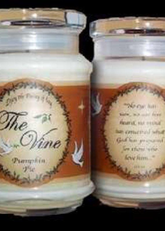 The Vine Candles Candle-Jar-Pumpkin Pie (Soy)-1 Co 2:9 (12 Oz)