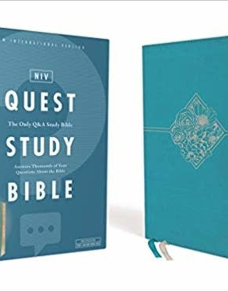 NIV, Quest Study Bible, Leathersoft, Teal, Comfort Print: The Only Q and A Study Bible Imitation Leather
