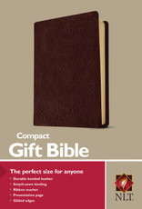 NLT Compact Gift Bible-Burgundy Bonded Leather