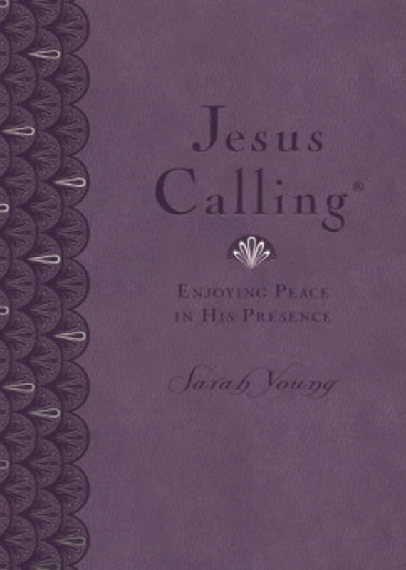 Jesus Calling (Deluxe Edition) Large Print-Lavender Leathersoft