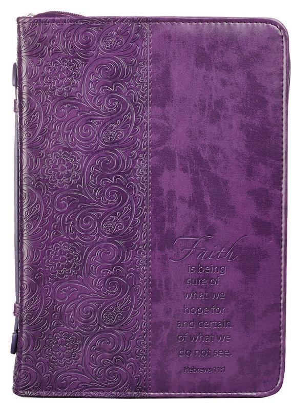 Bible Cover Faith Purple