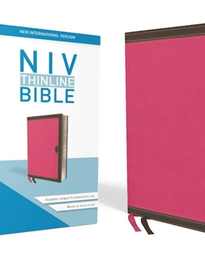 Zondervan NIV Thinline Bible (Comfort Print)-Pink Leathersoft