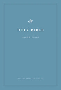 ESV Economy Bible-Large Print-Blue Softcover